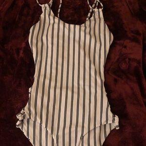 Black & white striped One piece